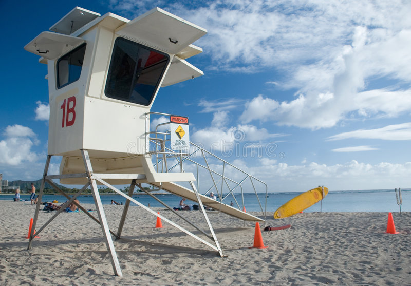 Lifeguard station royalty free stock photography