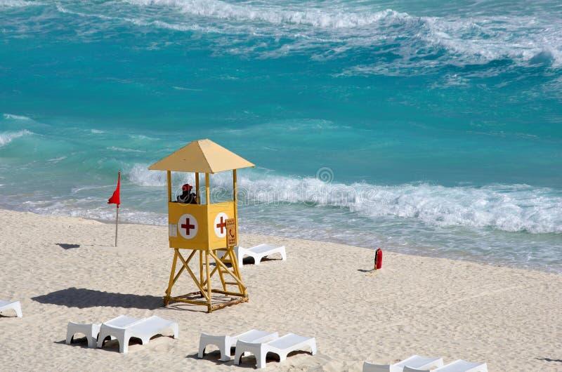 Lifeguard station royalty free stock photo