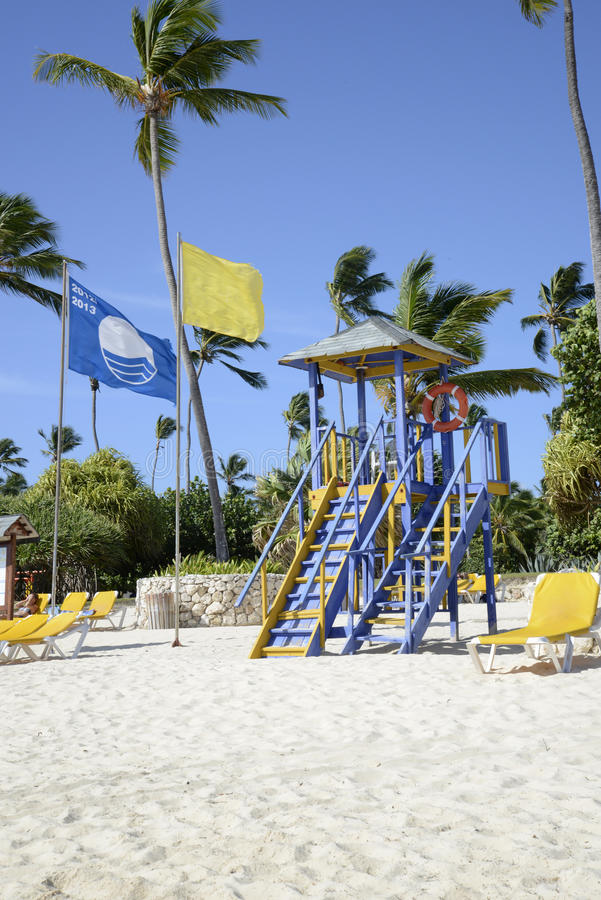 Lifeguard station in Punta Cana stock image
