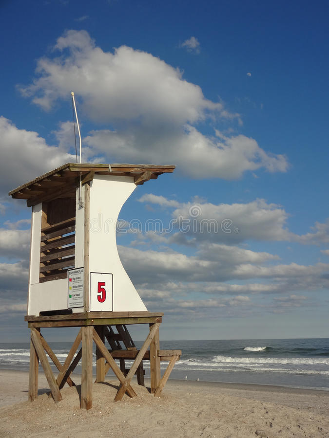 Lifeguard Station at Wrightsville Beach in North Carolina. An abandoned lifeguard station at Wrightsville Beach, just outside of Wilmington, North Carolina royalty free stock image