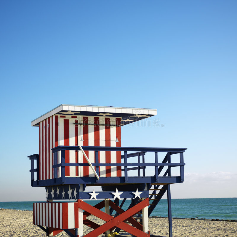 Free Lifeguard Tower In Miami Royalty Free Stock Images - 2051889