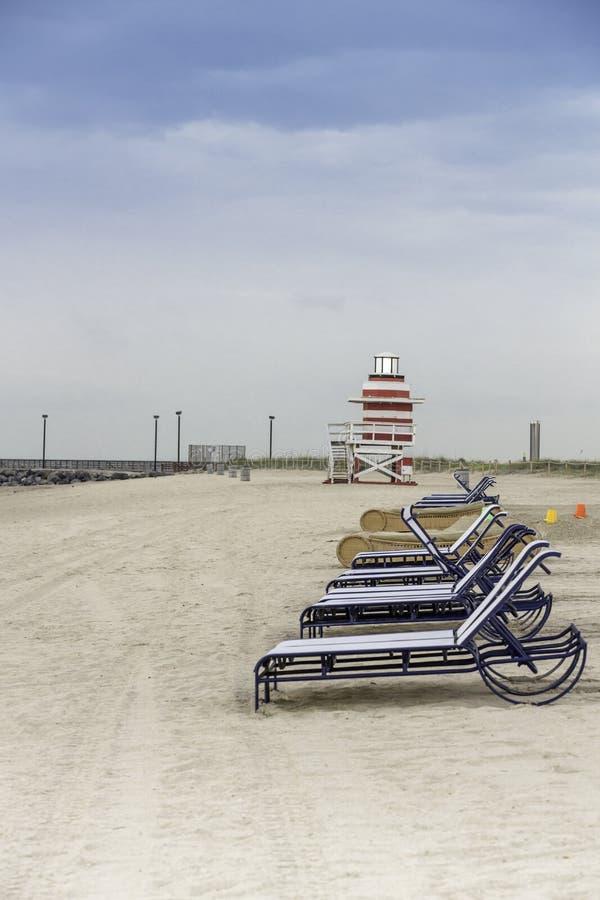 Lifeguard tower in South Beach, Miami royalty free stock photos