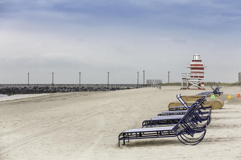 Lifeguard tower in South Beach, Miami stock photography