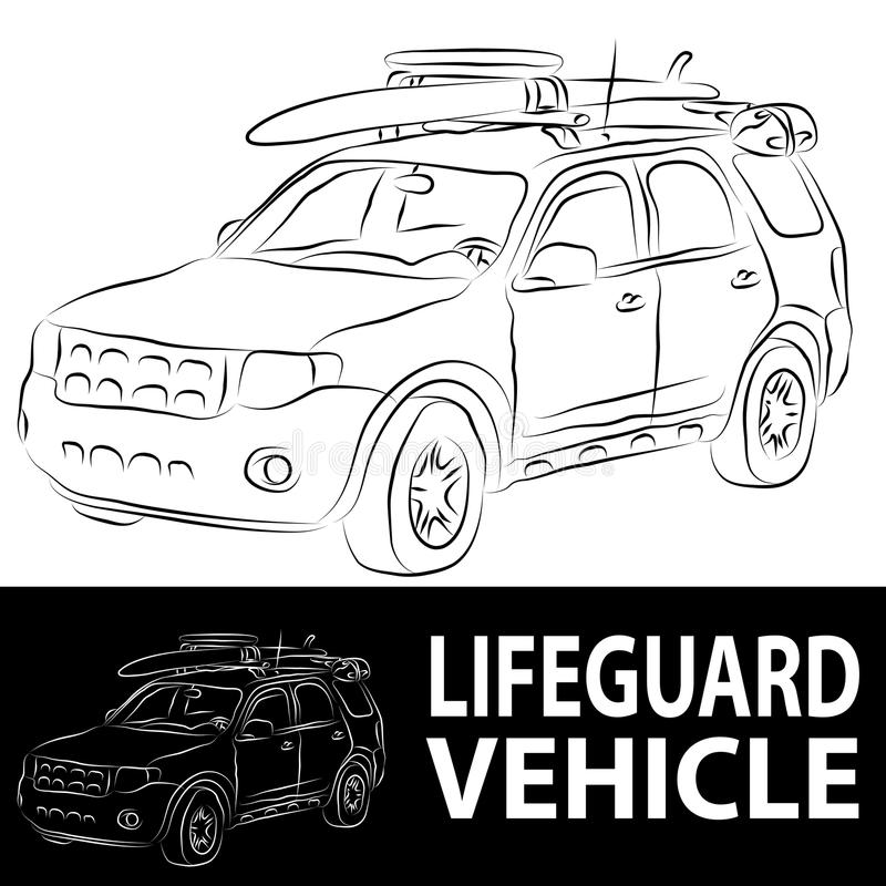 Download Lifeguard Vehicle stock vector. Image of lifeguard, black - 19526548