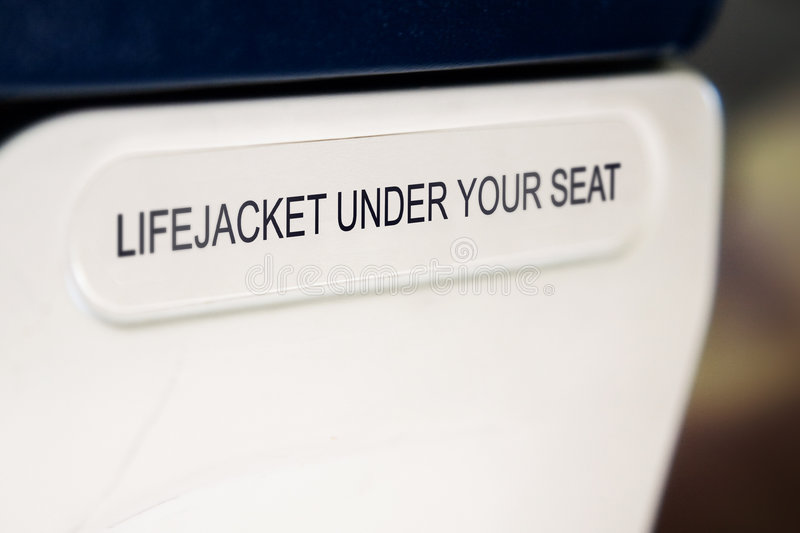 Lifejacket sign royalty free stock photos