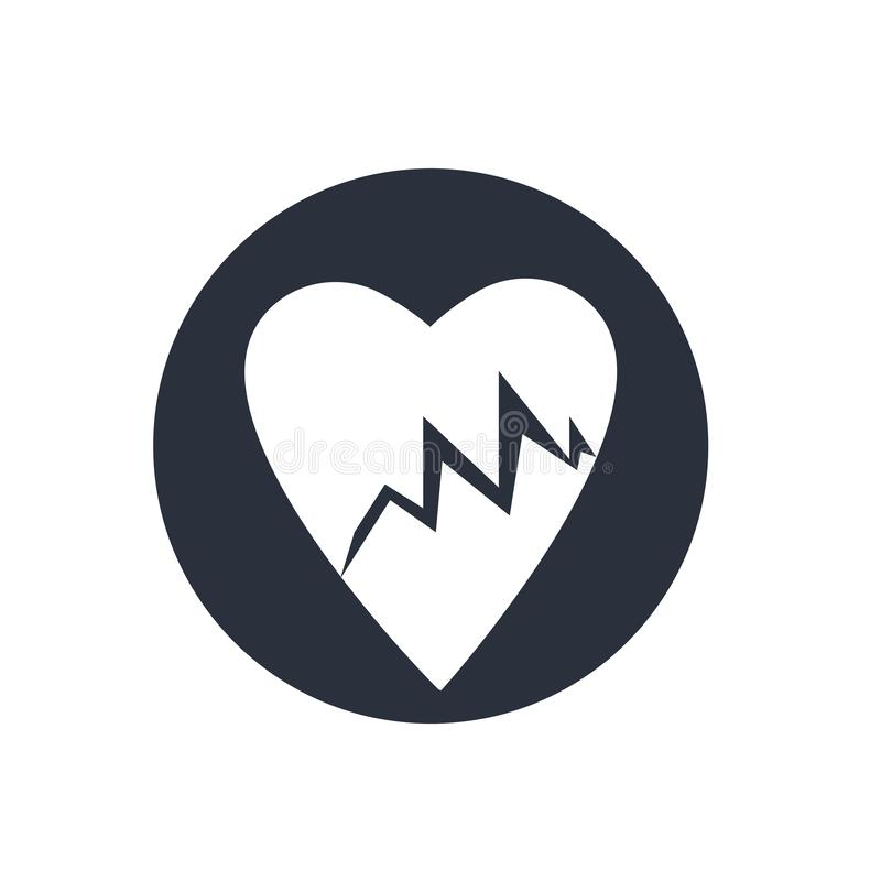 Lifeline of heartbeats on a paper on a clipboard icon vector sign and symbol isolated on white background, Lifeline of heartbeats vector illustration