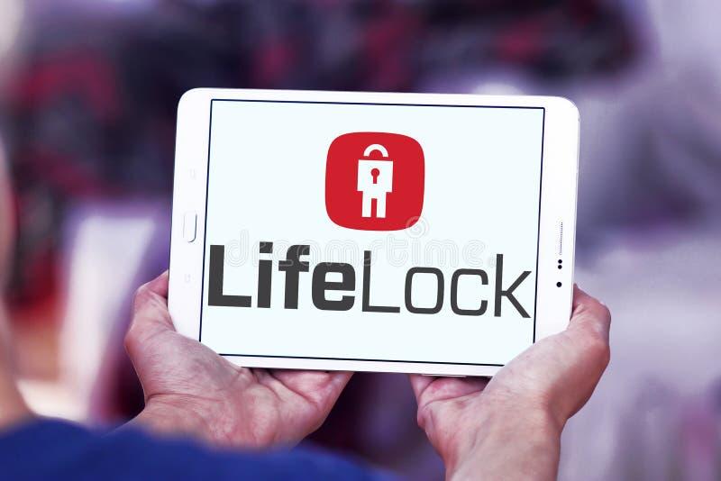 LifeLock company logo. Logo of LifeLock company on samsung tablet . LifeLock is an American identity theft protection company. it offers the LifeLock identity royalty free stock photo