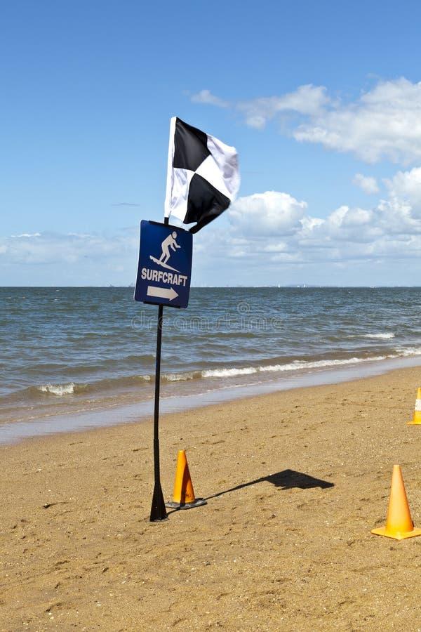 Lifesaver Beach Flags Stock Image