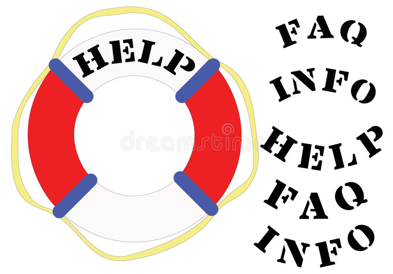 Download Lifesaver HELP stock vector. Image of float, rescue, emergency - 1139116