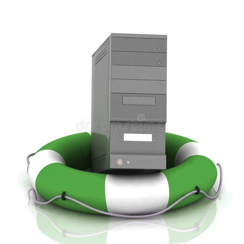 lifesaver PC διανυσματική απεικόνιση