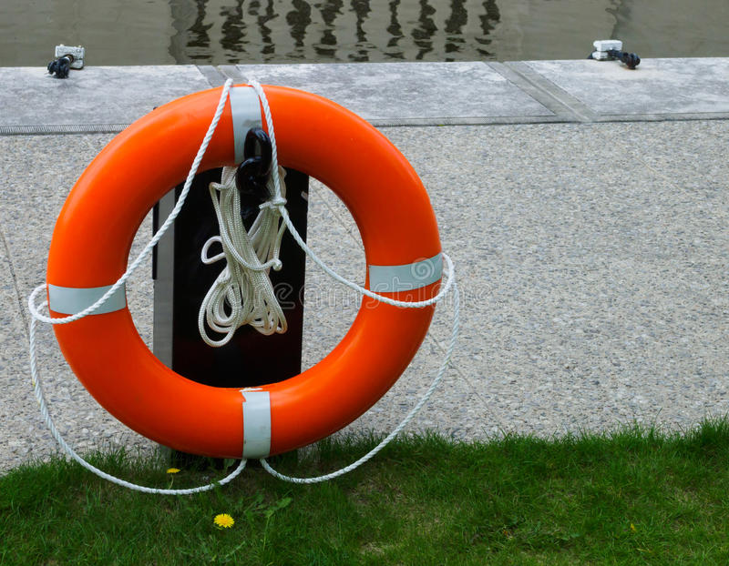 Lifesaver ready for use royalty free stock image