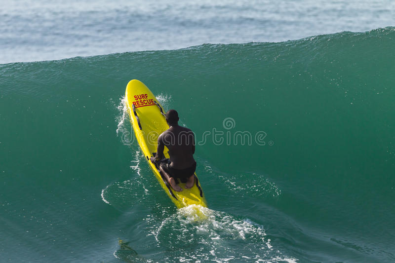 LifeSaver Rescue Ski Craft Waves Surfing royalty free stock photography