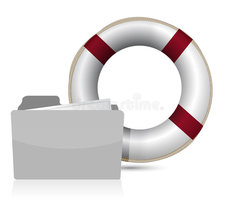 Download Lifesaver Sos Folder Illustration Design Stock Photos - Image: 27208183