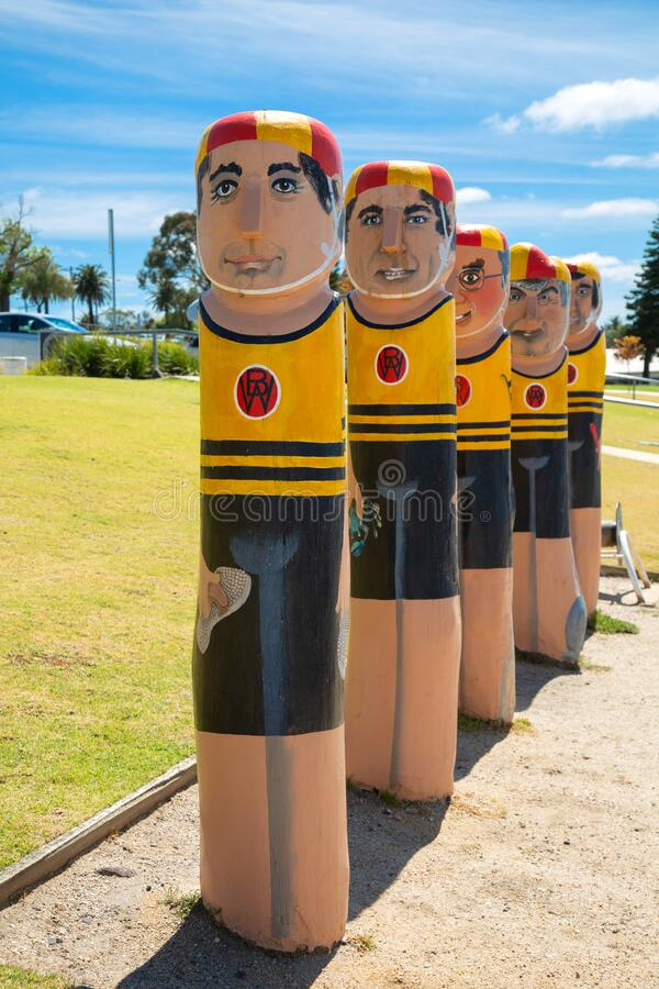 Lifesavers sulpture in Geelong in Victoria Australia stock photography