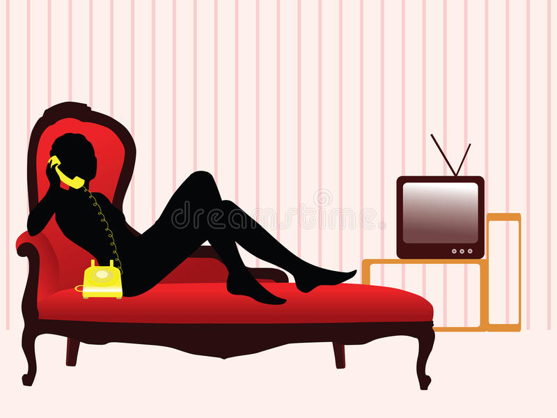Download Lifestyle stock vector. Image of illustration, couch - 13000666