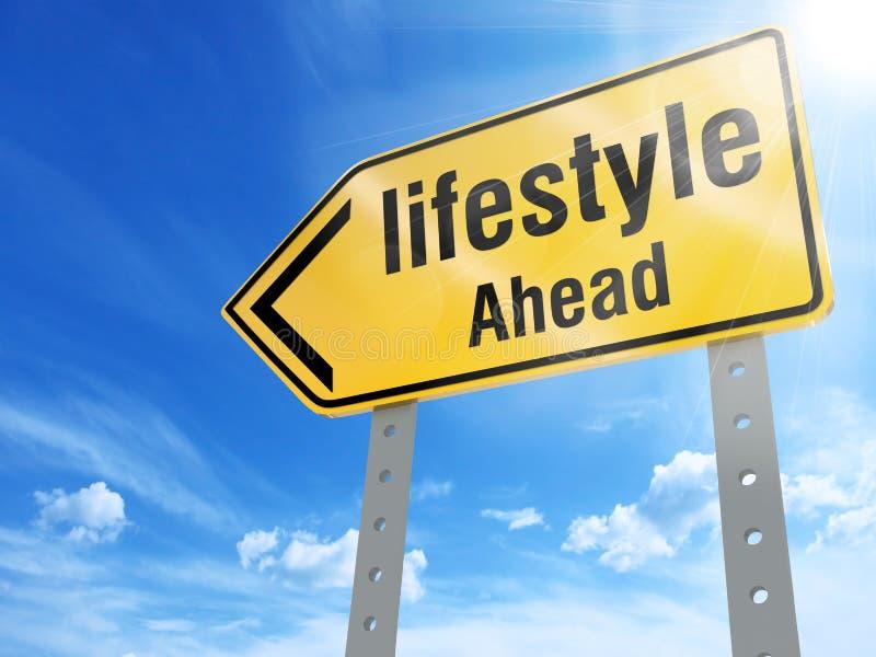 Lifestyle sign royalty free illustration