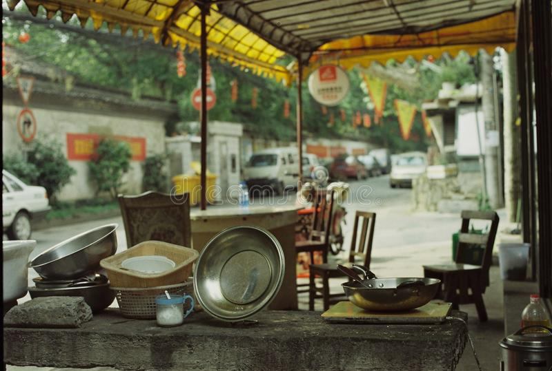 Lifestyle china Hangzhou Zhejiang filmphotography olympus 50mm normal lens Zuiko. Community;old community;lifestyle;Film photography;film i was at the old street royalty free stock photo