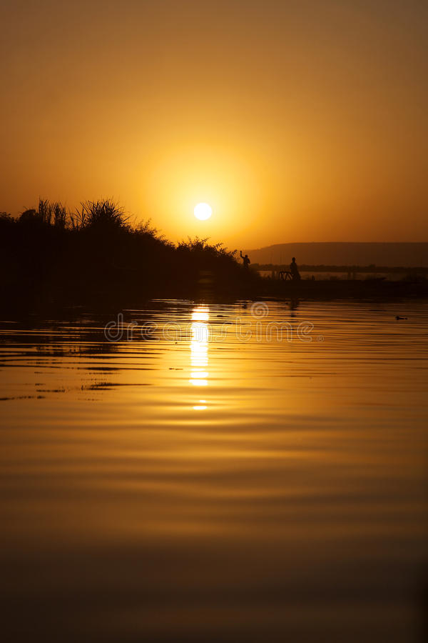 Lifestyle on the Delta of Niger royalty free stock photography