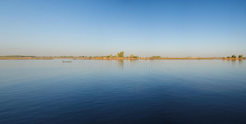 Lifestyle on the Delta of Niger stock image