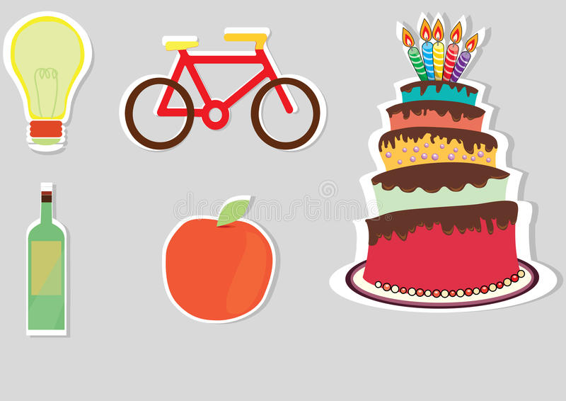 Download Lifestyle objects stock vector. Image of colorful, orange - 24621114