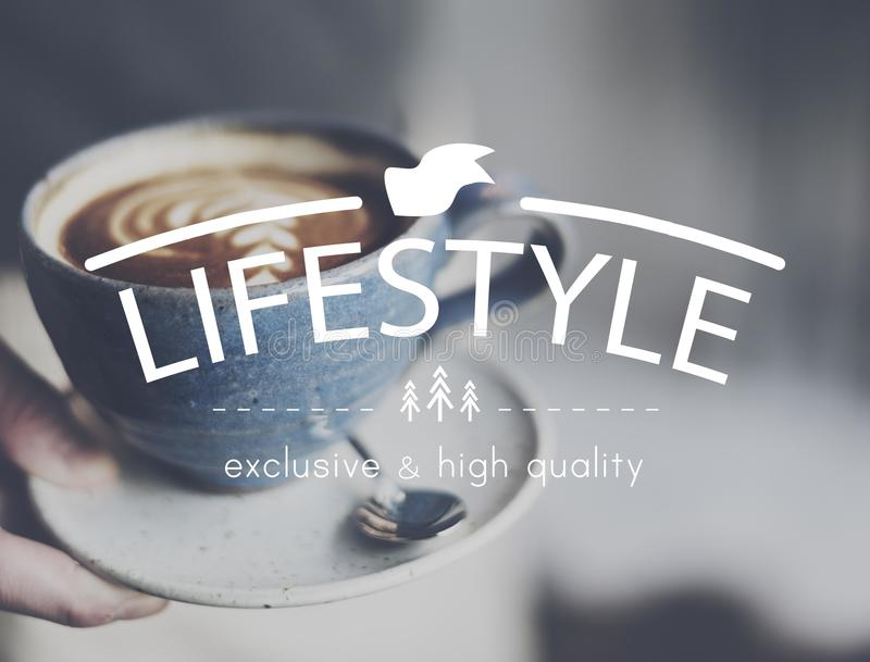 Lifestyle Simplicity Habits Life Concept.  stock photo