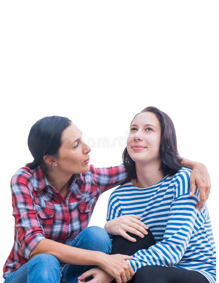 Lifestyle for singer Mom. Super power mother with daughter. royalty free stock image