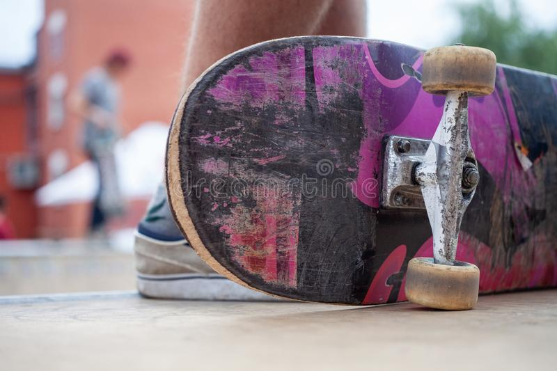 Lifestyle - skateboard. Sport concept theme. Sport concept theme. Lifestyle - skateboarding stock photo