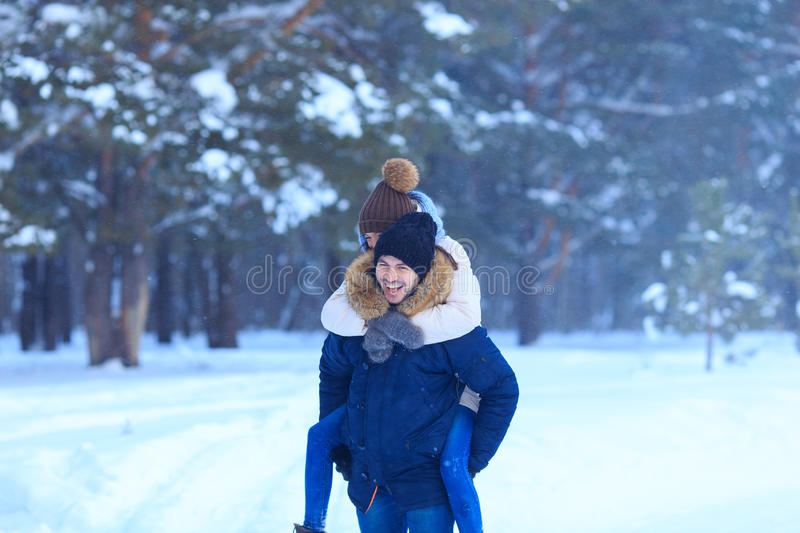 Lifestyle of young happy couple in love royalty free stock image