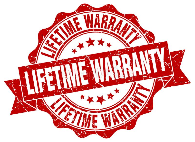 Lifetime warranty seal. stamp. Lifetime warranty round seal isolated on white background royalty free illustration