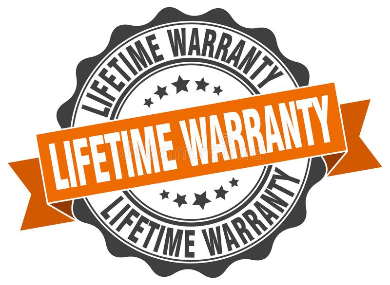 Lifetime warranty seal. stamp. Lifetime warranty round seal isolated on white background. lifetime warranty royalty free illustration
