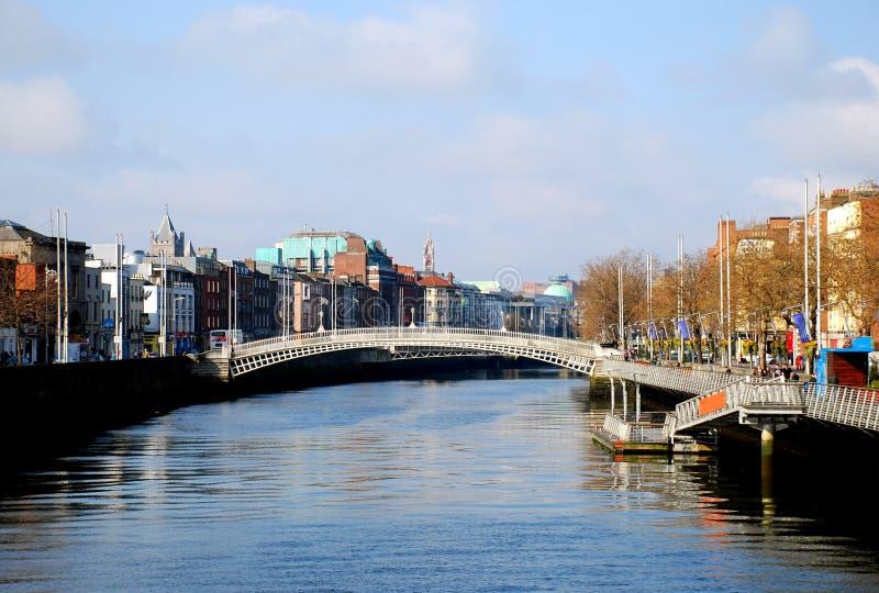 Liffey, Dublin stock fotografie