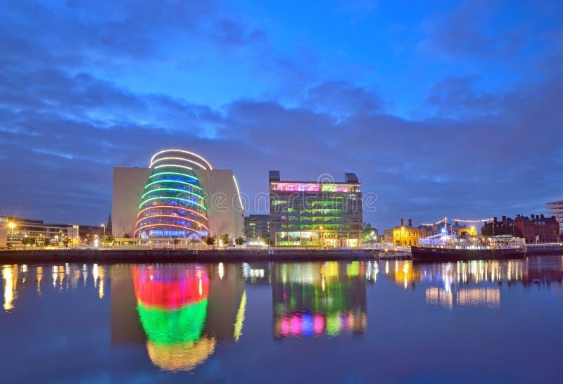 Liffey River in Dublin royalty free stock photos