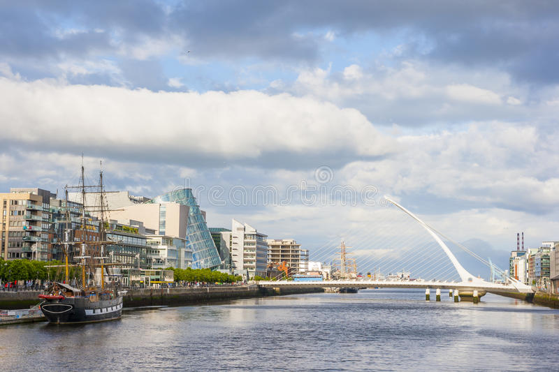 Liffey River in Dublin royalty free stock photography