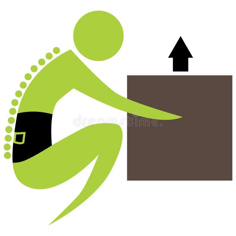Lifitng Box Spine Figure vector illustration