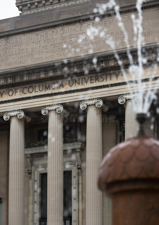 Lifrary of Columbia University in NYC royalty free stock image