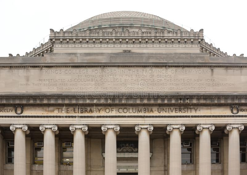 The Lifrary of Columbia University in NYC. New York City`s Columbia University, an Ivy League school royalty free stock photos
