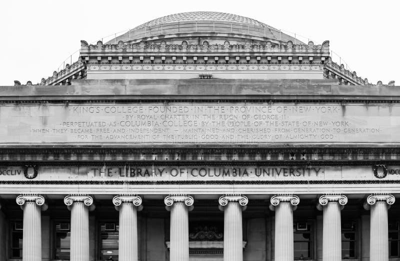 Lifrary uniwersytet columbia w NYC fotografia royalty free