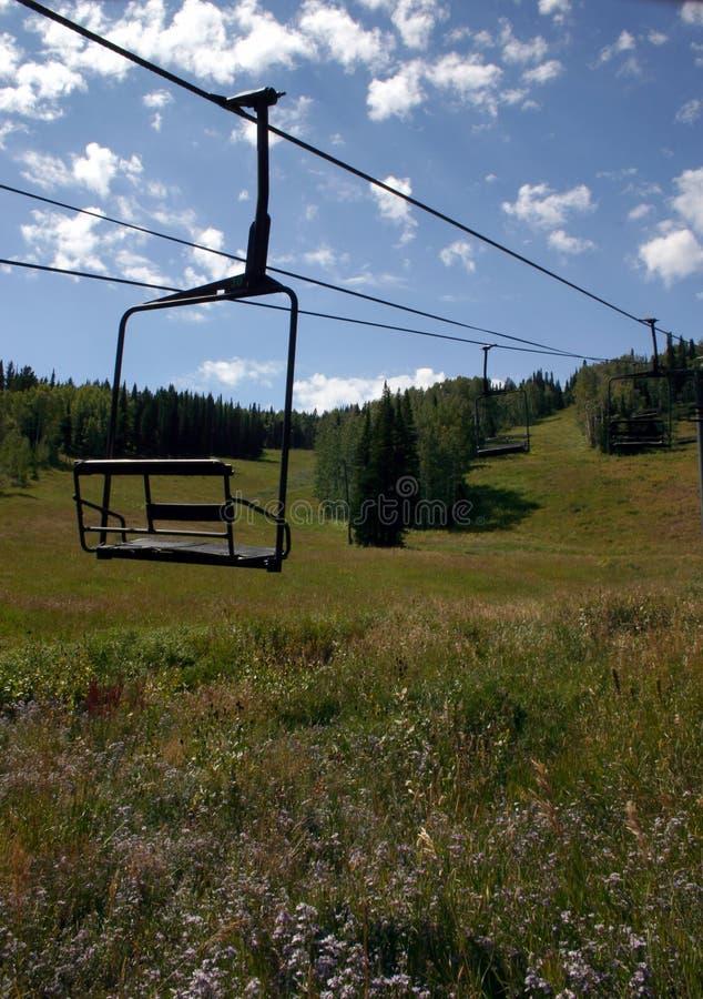 Lift 2 van de Stoel van de ski stock afbeelding
