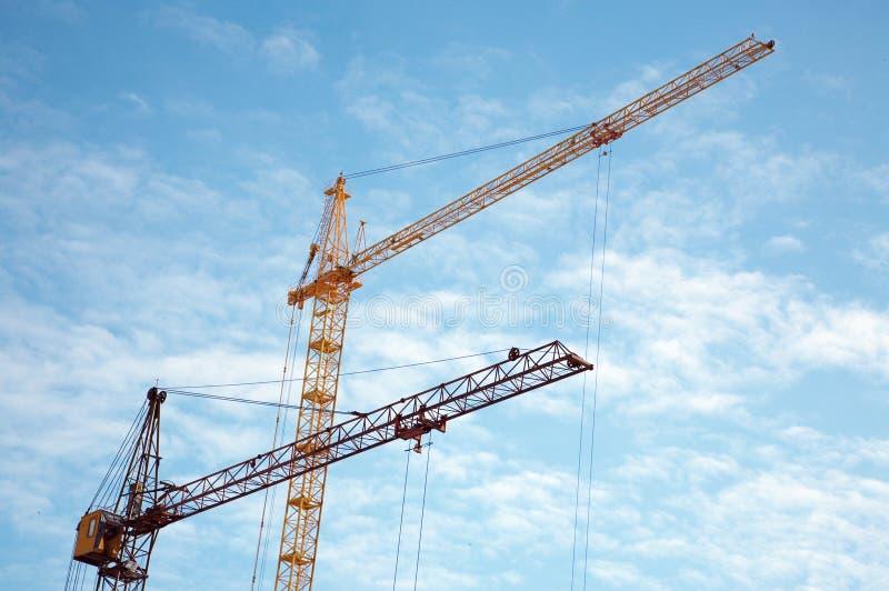 Lift cranes stock images