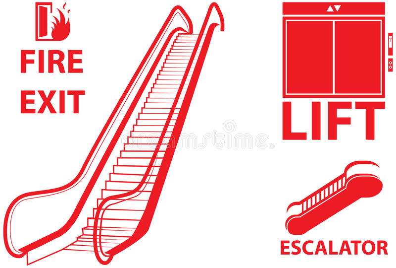 Lift en lift royalty-vrije illustratie