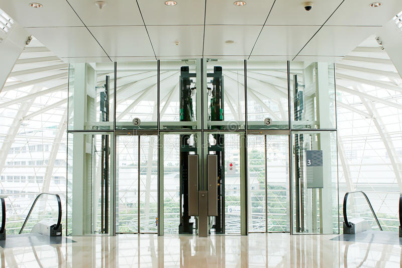 Download Lift glass stock image. Image of hall, door, indicator - 19661027