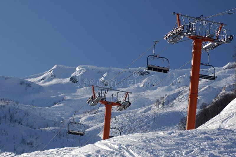 Lift in Krasnaya Polyana. Sochi - capital of Winter Olympic Games 2014. Russia stock photography
