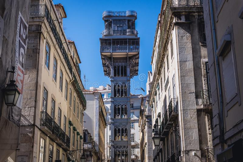 Lift in Lisbon royalty free stock photography