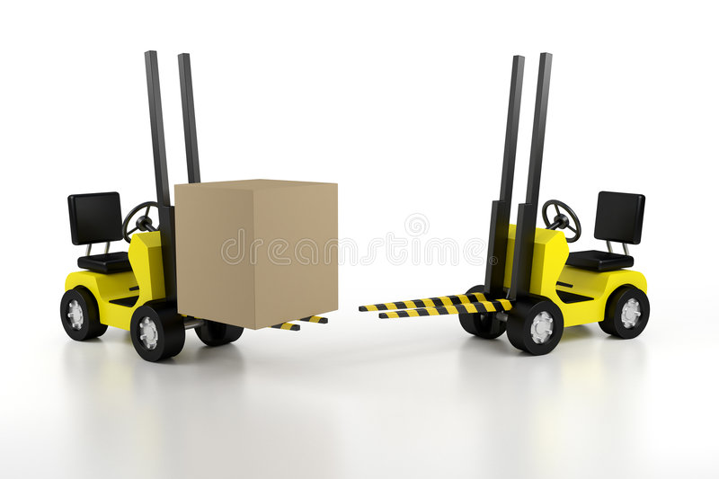 Download Lift loader stock illustration. Illustration of adult - 3946060