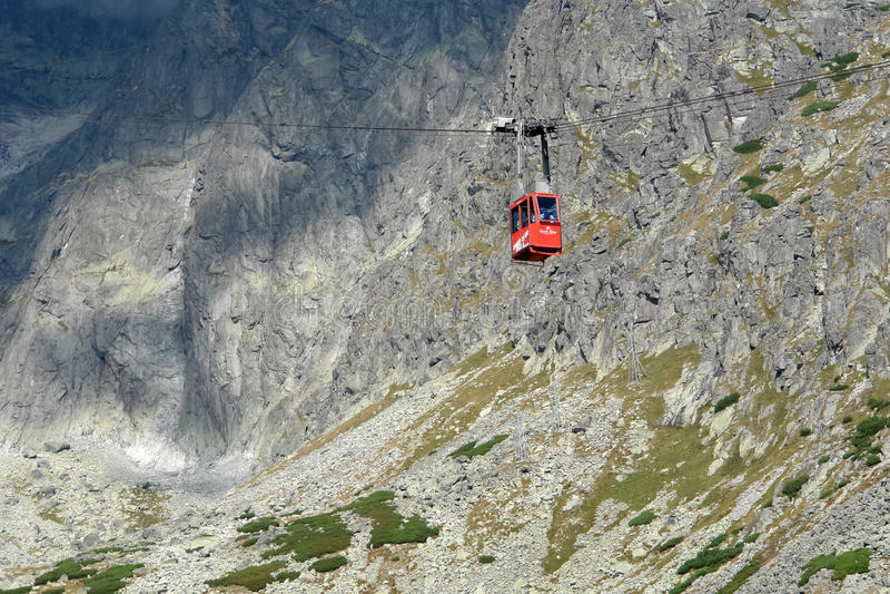 The lift on the Lomnicky Stit. royalty free stock photo