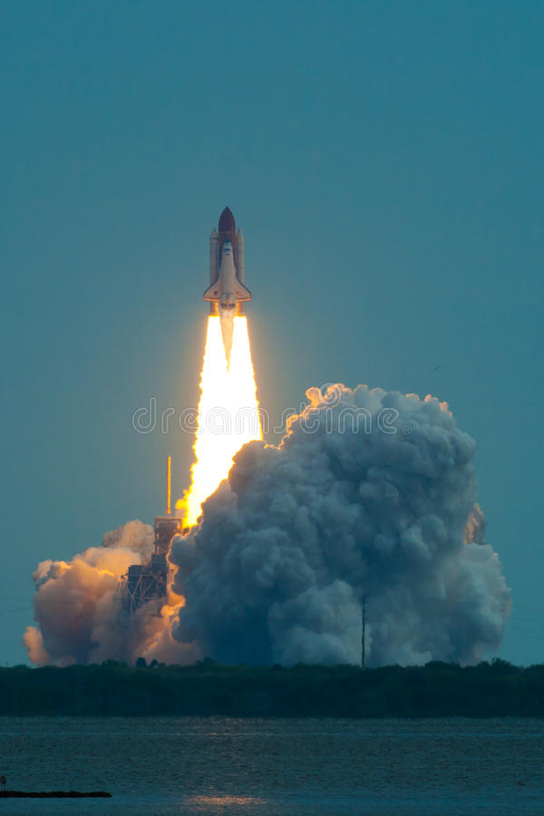 Lift Off of Endeavour STS-134 royalty free stock image