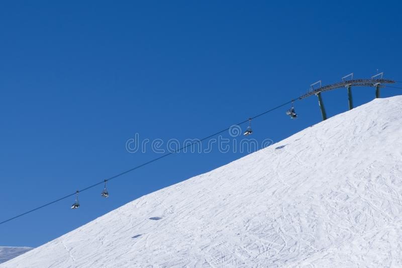Lift in Passo del Tonale stock images