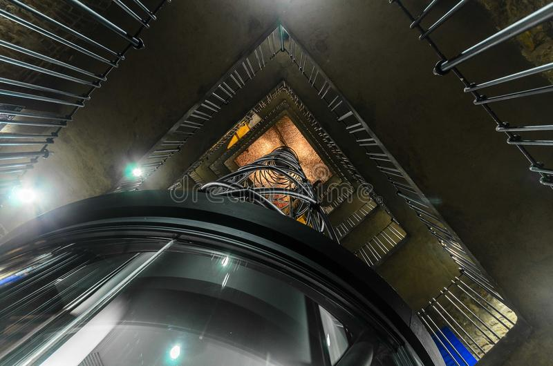 Lift in Praag stock fotografie