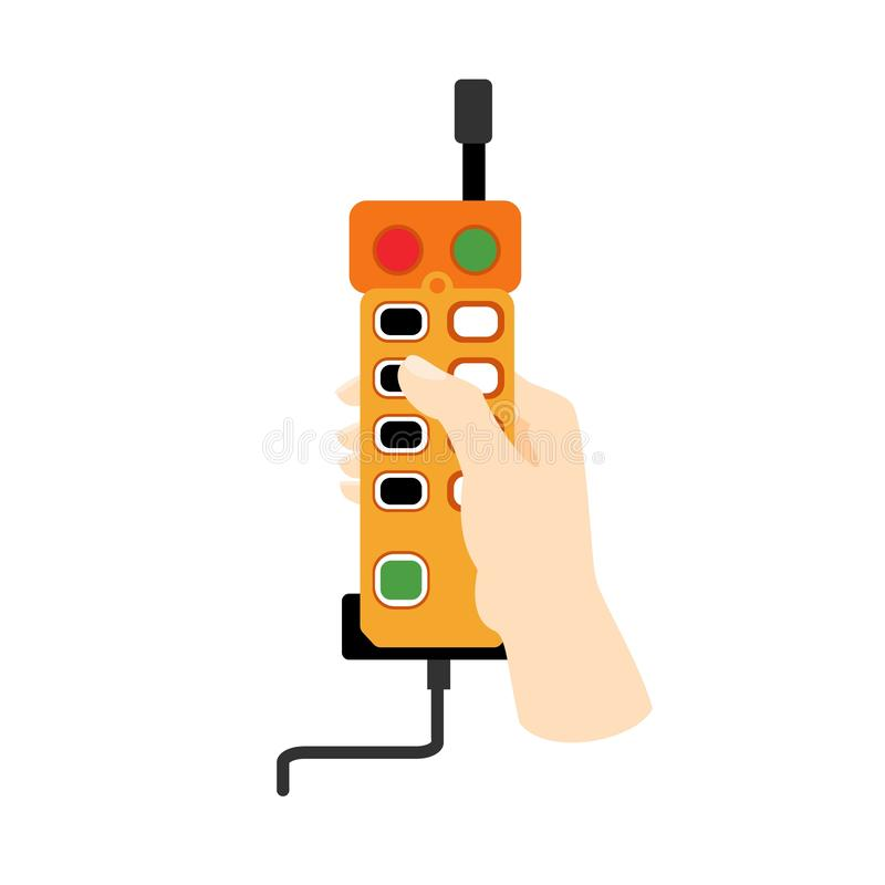 Lift remote control icon, flat style royalty free illustration