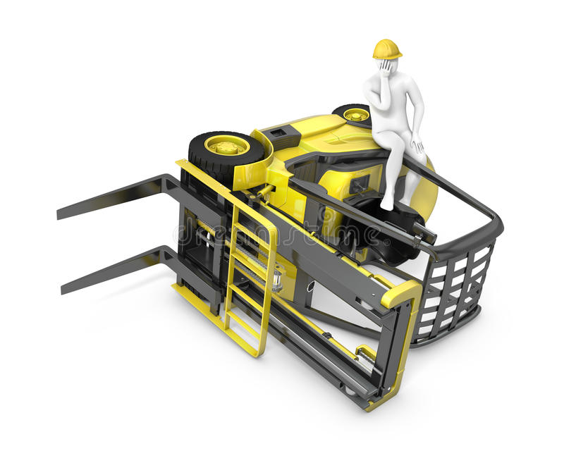 Download Lift Truck Flipped On Side After Falling Stock Illustration - Illustration of delivery, machine: 24789403